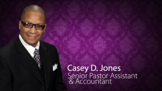 Casey Jones, Personal Asst to the Senior Pastor