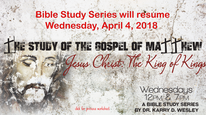 The Study of the Gospel of Matthew