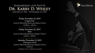 Remembering Our Pastor