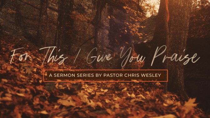 For This I Give You Praise -Sermon Series