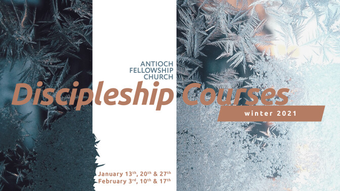 Discipleship Groups-Winter '21 Session