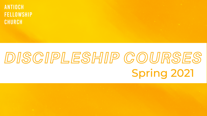 Discipleship Groups-Spring Session
